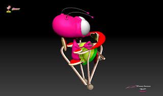 """BLiP"" - Orbit's ""Astroglyder""(cockpit) - Character design, concept art & ZBrush Sculpture © Pierre Rouzier"