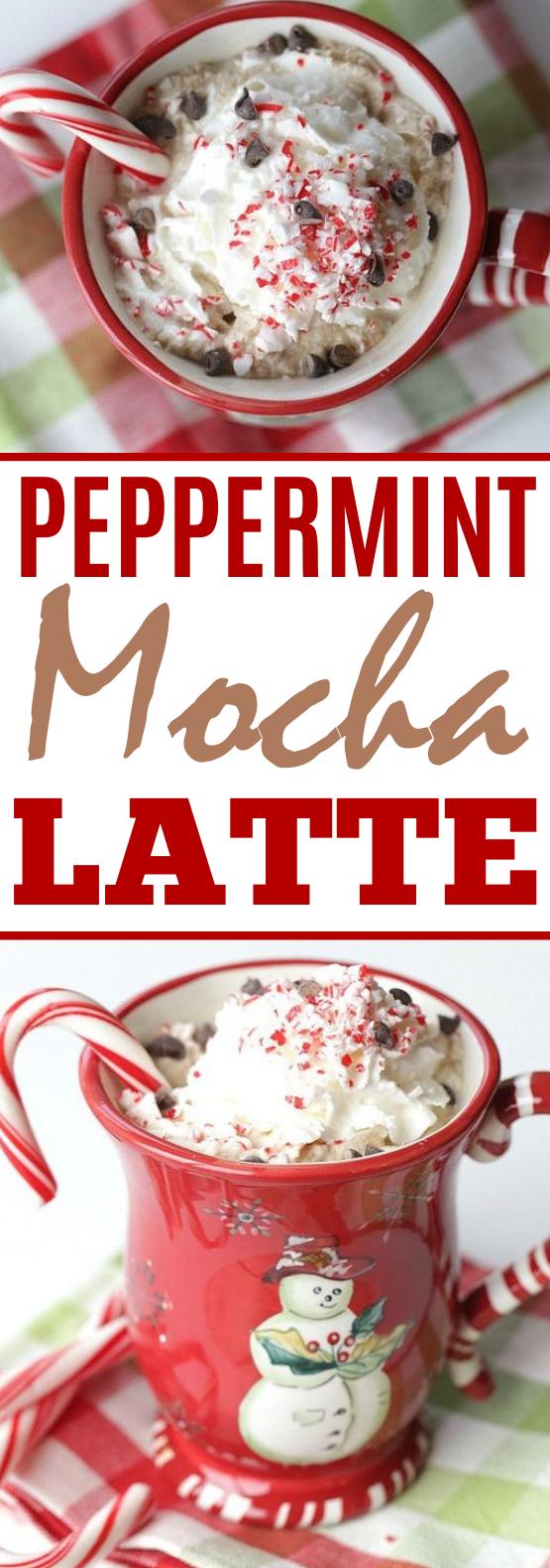 Peppermint Mocha Latte #drinks #latte #coffee #hot #beverages