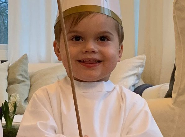 Crown Princess Victoria of Sweden shared new photos of her children Princess Estelle and Prince Oscar. St. Lucia's Day