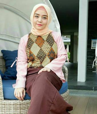 model jilbab untuk muka bulat