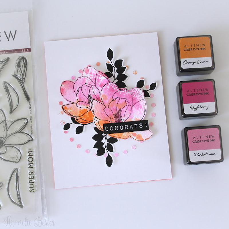 Altenew Magnolias for her