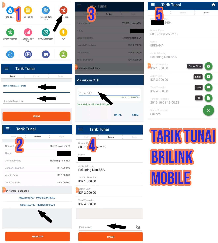 Cara Tarik Tunai Melalui BRILink Mobile