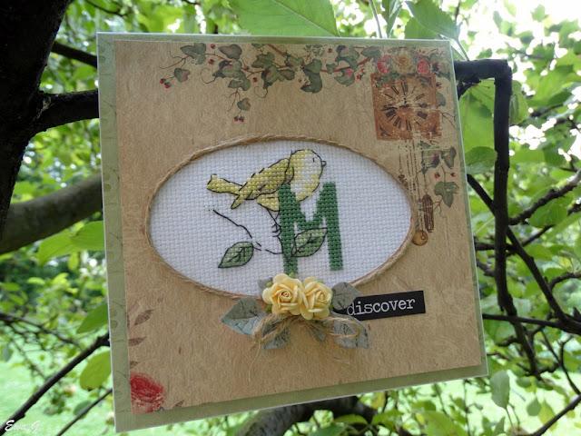 Jak oprawić haft na kartce - tutorial na blogu DIY