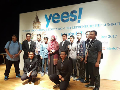 Mahasiswa INI DALWA mengikuti Youth Education and Enterpreneurship Summit (YEES!) di Turki