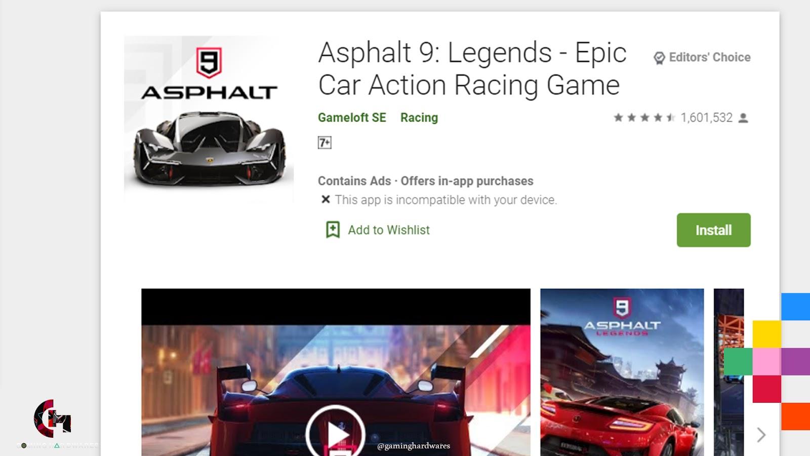 لعبة Asphalt 9 Legends and Asphalt Xtreme للأندرويد