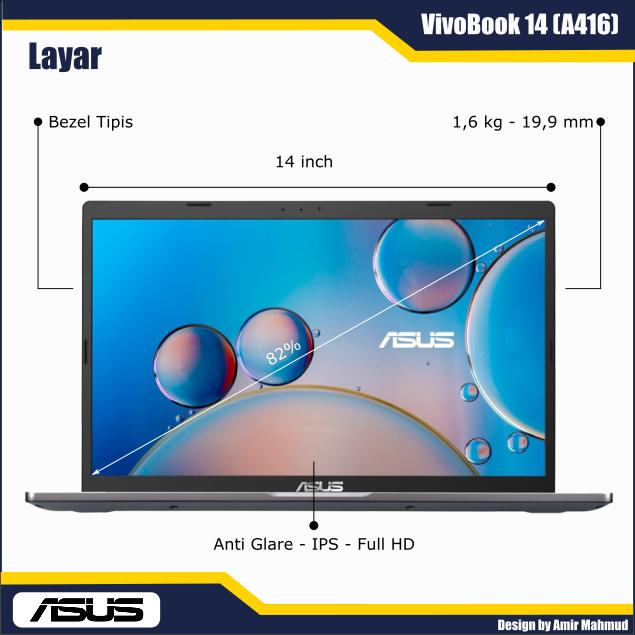 Layar ASUS VivoBook 14 (A416)