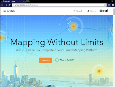 step 1 - arcgis.com press Try ArcGIS