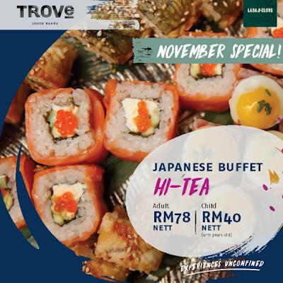 Buffet Makanan Jepun 'Japanese Hi-Tea' @ Lada & Clove Serendah RM78