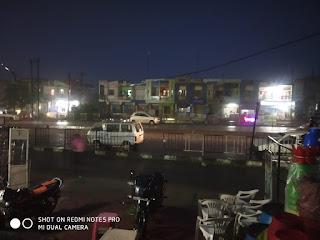 पीथमपुर में शाम को हुई जोरदार बारिश