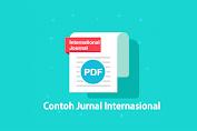 Contoh dan download Jurnal Internasional PDF Bahasa Inggris tentang Ekonomi, Pendidikan, Kesehatan, dan Lingkungan