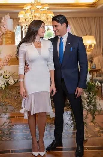 سعر فستان ياسمين صبرى فى عقد قرانها على أحمد أبو هشيمة