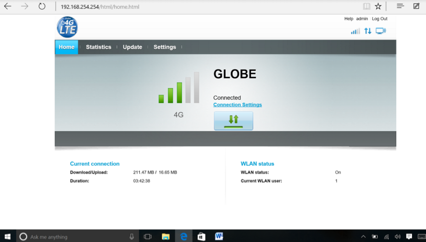 Globe Huawei B315s-936 Login Instructions - PhNewsBox