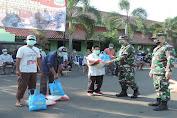 Korem 064/MY Salurkan Bantuan Sembako Bagi warga Terdampak Covid-19