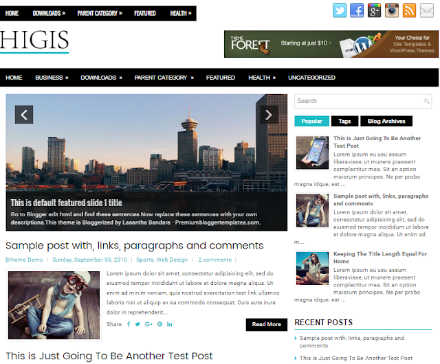 Higis Blogger Template