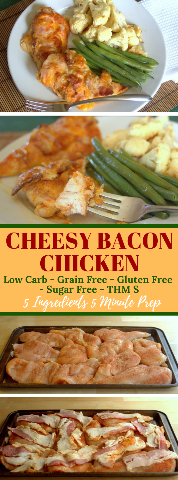 EASY CHEESY BACON CHICKEN – LOW CARB KETO GLUTEN FREE #ketodiet #healthy