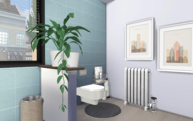 toilette déco sims 4