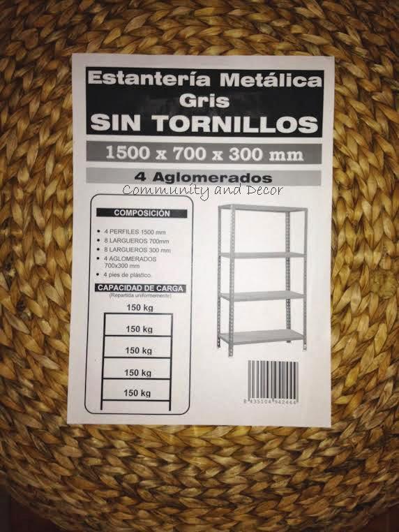 Primer concurso estanterias metalicas DIY