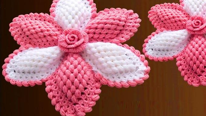 Giant 3D Flower Walkthrough Free In Crochet
