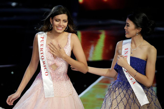 The student, 19, is the second Miss World to hail from Puerto Rico