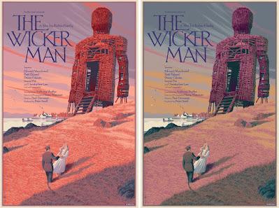 The Wicker Man Screen Print by Laurent Durieux x Mondo x Nautilus Art Prints