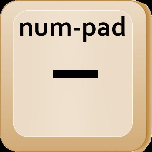 num-pad minus