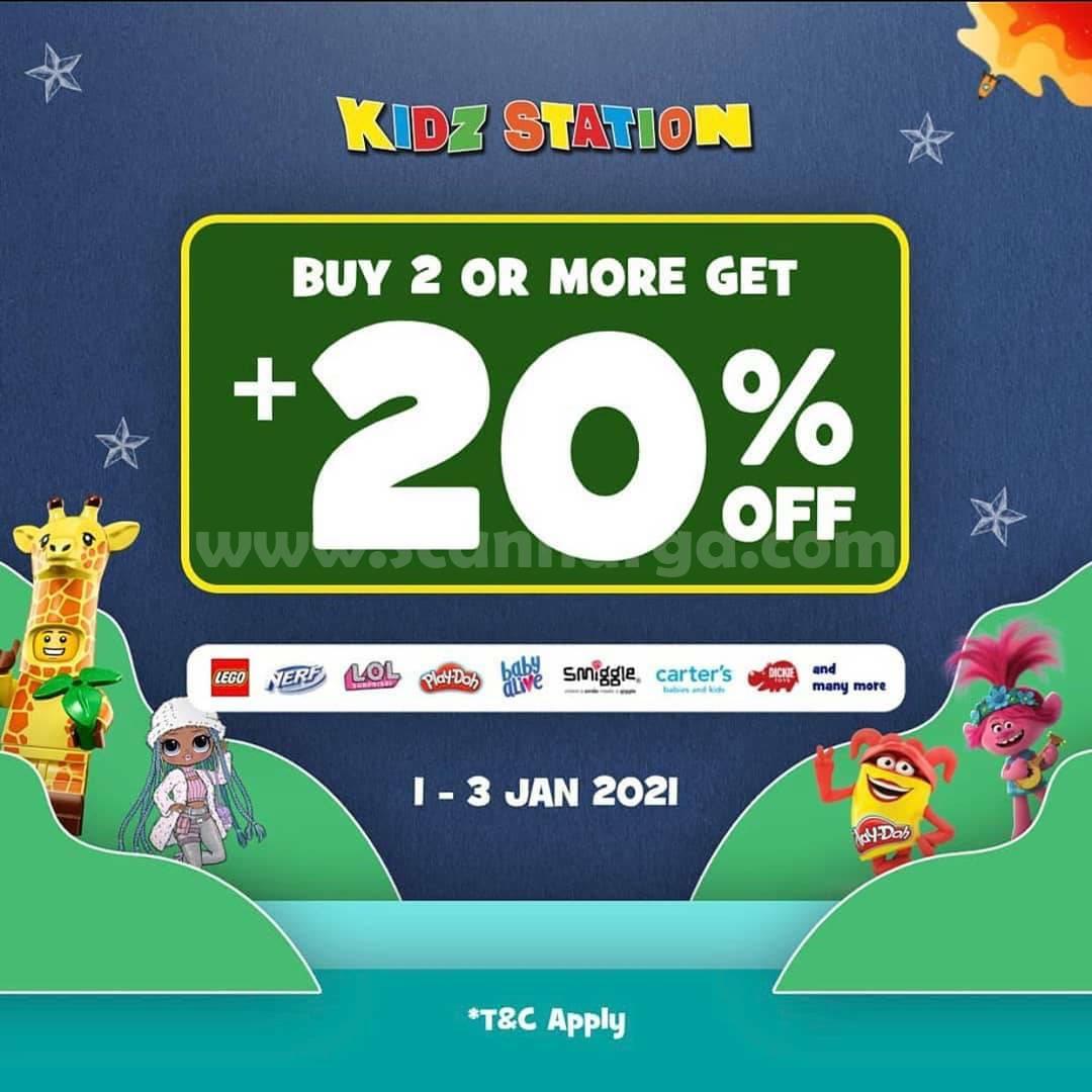 KIDZ STATION Promo Buy 2 or more Get + 20% Off