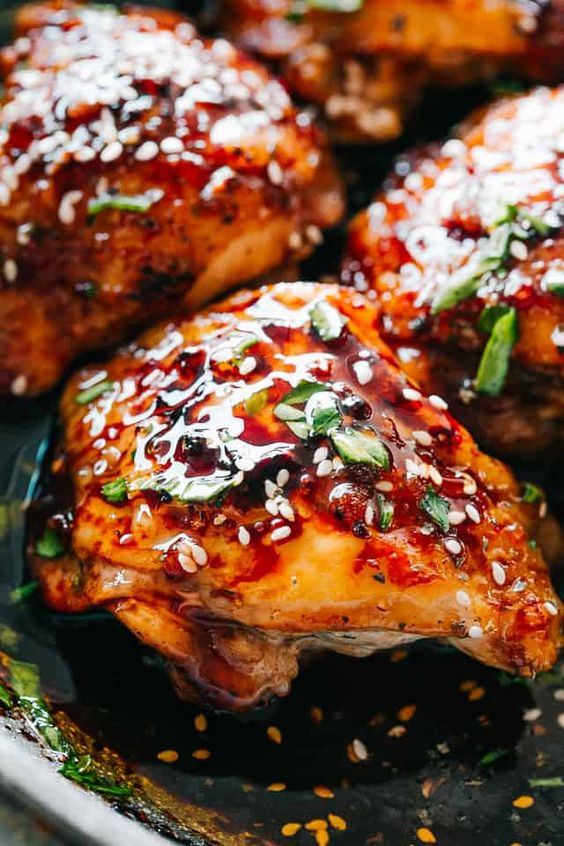 Instant Pot Sticky Chicken Thighs Recipe