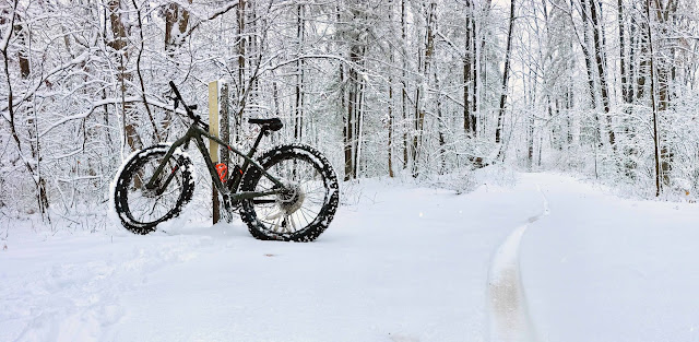 Fat Tire Bike in the Snow - Mountain Biking