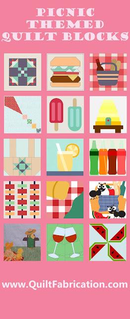 picnic themed quilt blocks