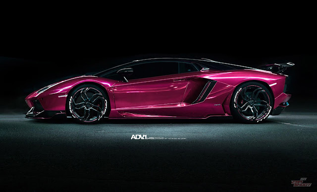 Purple Lamborghini Aventador On ADV.1 Wheels