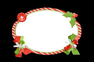 Toppers o Etiquetas de Santa en Fondo Verde para imprimir gratis.