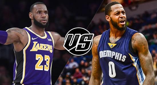 Live Streaming List: LA Lakers vs Memphis Grizzlies 2018-2019 NBA Season