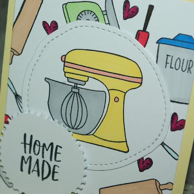 [DIY] Grußkarte für (Hobby-) Bäckerinnen & Bäcker, Kuchenliebhaberinnen und Keksevernascher