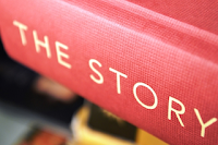"Book with Red Cover; ""The Story"""
