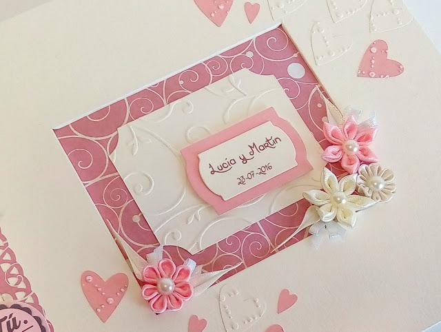 Libro de firmas para boda estilo romantico