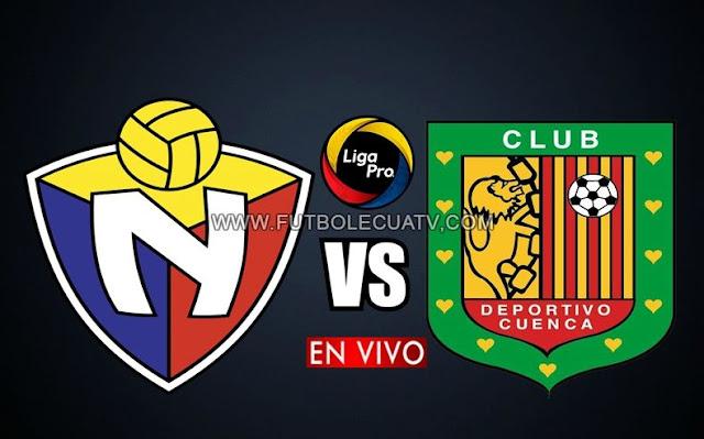 El Nacional y Deportivo Cuenca chocan en vivo por la fecha cuatro de la Liga Pro siendo emitido por GolTV Ecuador a realizarse en el estadio Olímpico Atahualpa, desde las 19h15 horario de nuestro territorio con arbitraje principal de Mario Romero.