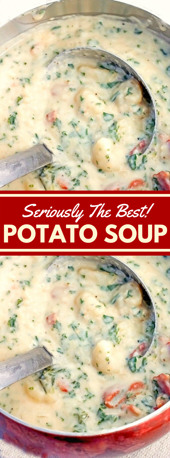 THE BEST POTATO SOUP #falldinner #vegetarian