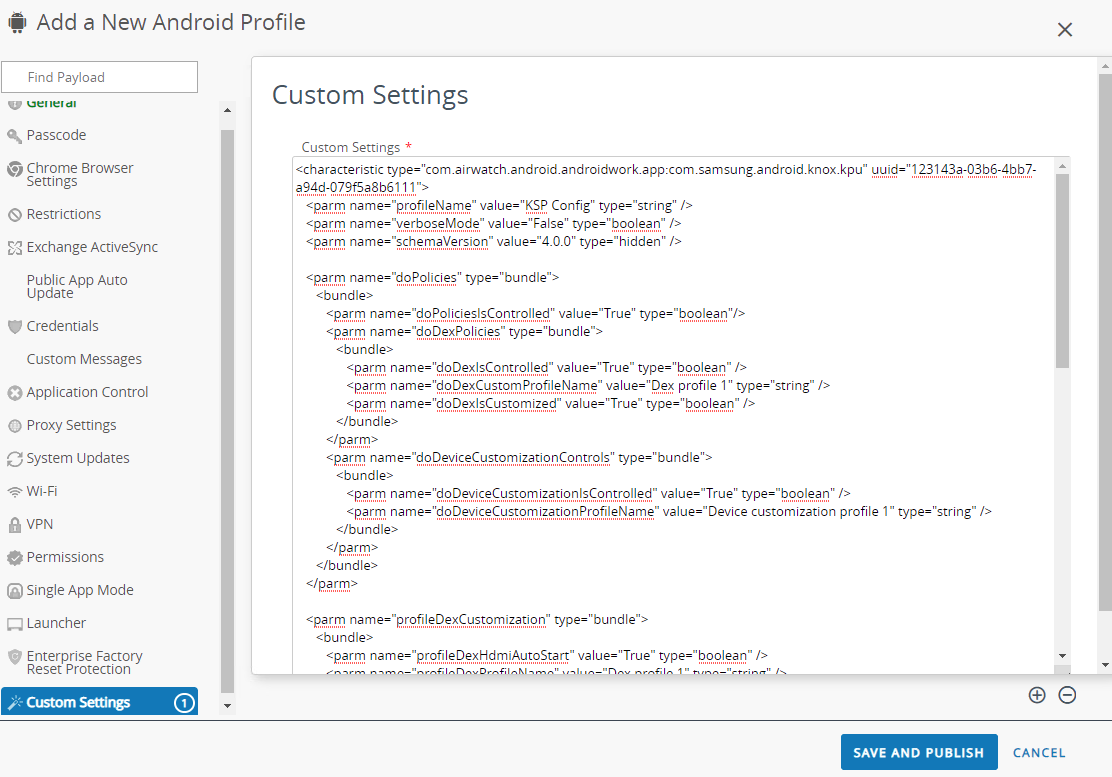 Use Managed App Configuration on Android Apps delivered via