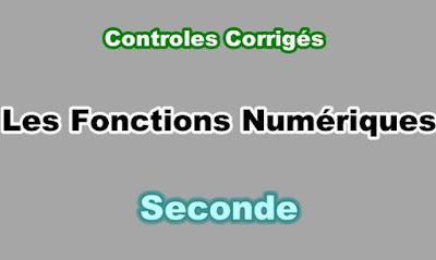 Controles Corrigés Fonctions Numériques Seconde PDF