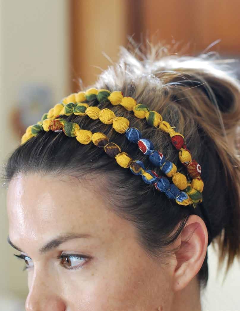 Fabric Beaded Headband Tutorial