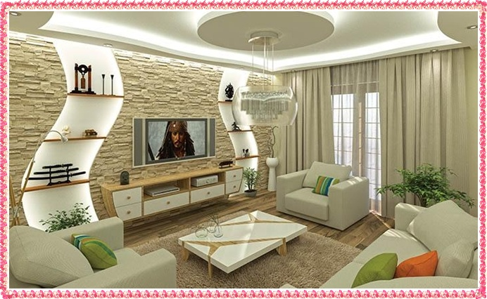 Best 70 modern living room interior designs, POP false