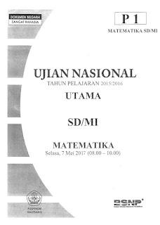 Latihan Soal US SD 2017 Bahasa Indonesia, Matematika, dan IPA