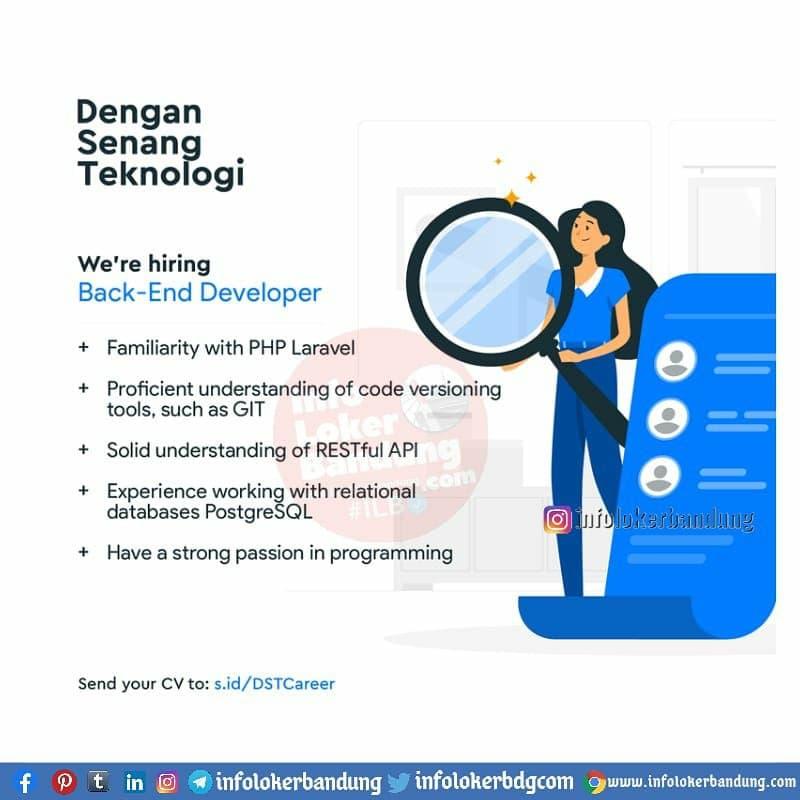 Lowongan Kerja Dengan Senang Teknologi Bandung Maret 2021