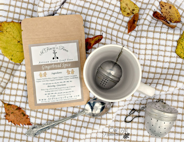 Artisan loose leaf tea blends from St. Fiacre's Farm would make a great gift.