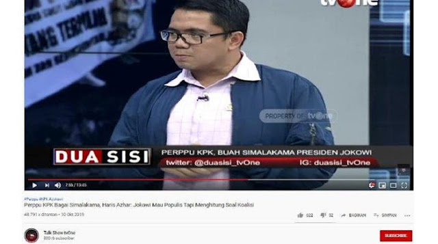 Arteria Dahlan Bongkar Isi Rapat Terakhir DPR terkait Perppu KPK: Kalau Bisa Direkam dan Diumbar