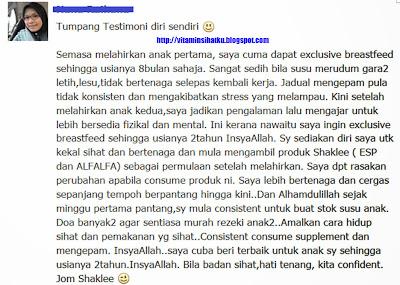 Testimonial set berpantang