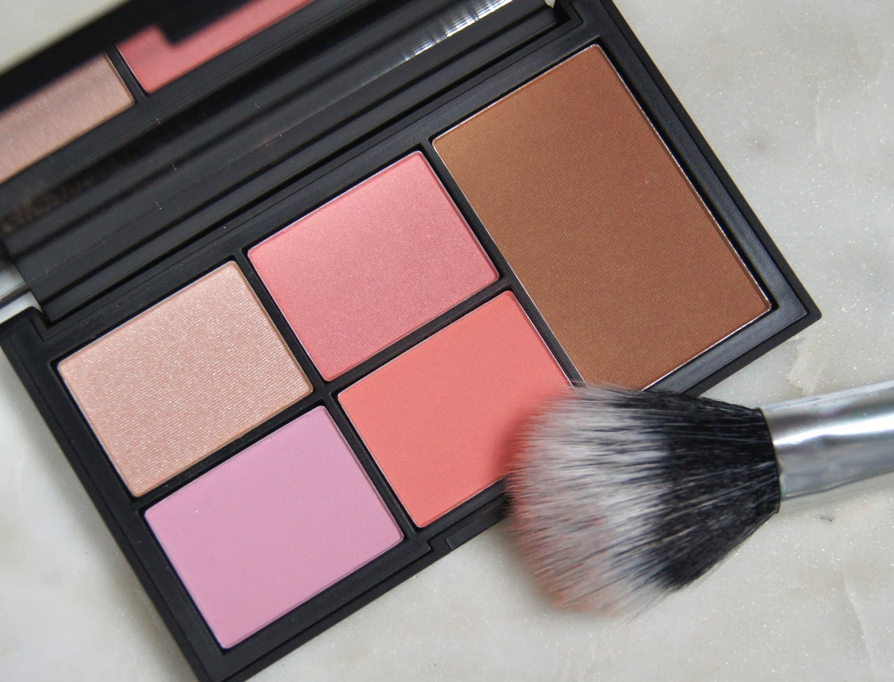 nars virtual domination cheek palette review swatches blush highlight