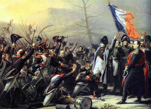 نابليون أمام جنوده في معركة واترلو Napoleon at Waterloo