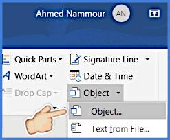 خيار Object من قائمة Object