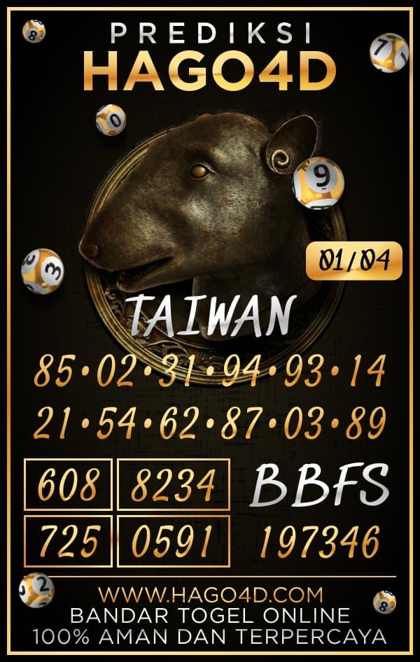 Prediksi Hago4D - Kamis, 1 April 2021 - Prediksi Togel Taiwan